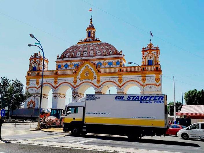 Mudanza Gil Stauffer en la Feria de Sevilla