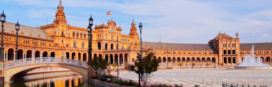 Panorámica Sevilla, casco antiguo y Plaza España