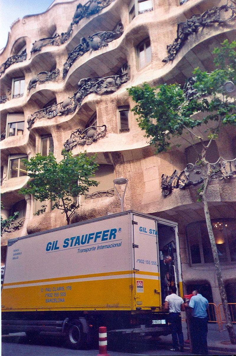 Mudanzas Gil Stauffer Barcelona - Mudanza en La Pedrera