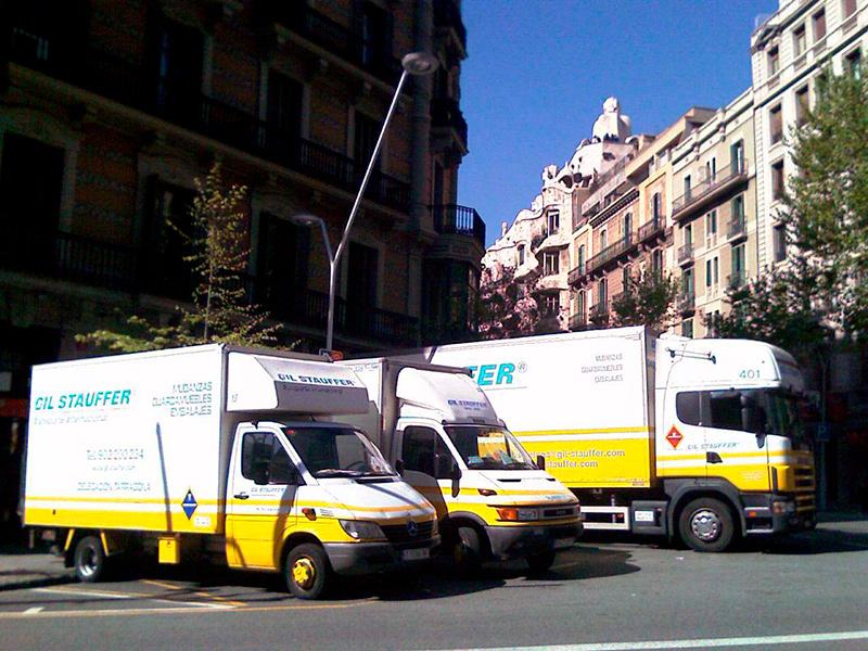 Mudanzas Gil Stauffer Barcelona - Camiones en Barcelona centro