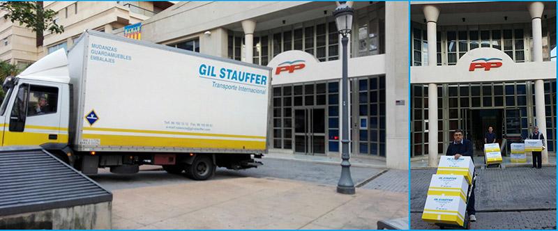 Mudanzas Valencia: Gil Stauffer realizando una mudanza en Valencia