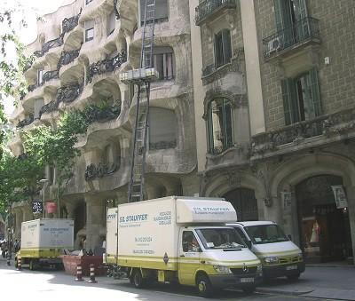 MUDANZA EN LA PEDRERA BARCELONA